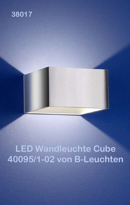 led wandleuchte cube 40095 1 02 von b leuchten ebay. Black Bedroom Furniture Sets. Home Design Ideas