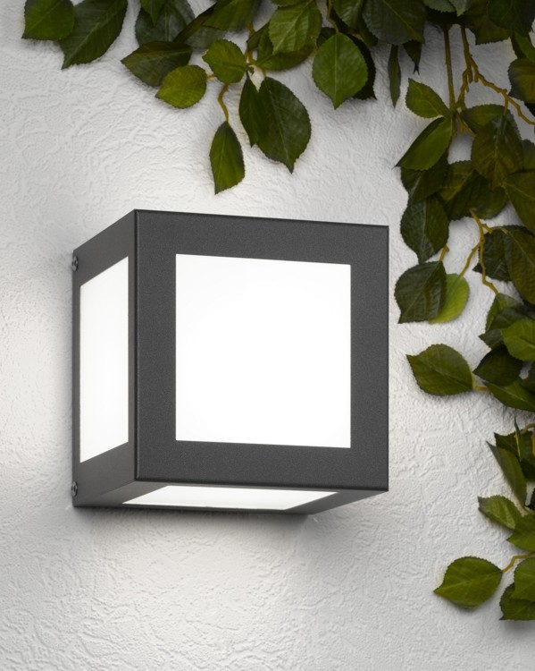 au enleuchte wandleuchte cmd 61 aqua cubo anthrazit. Black Bedroom Furniture Sets. Home Design Ideas