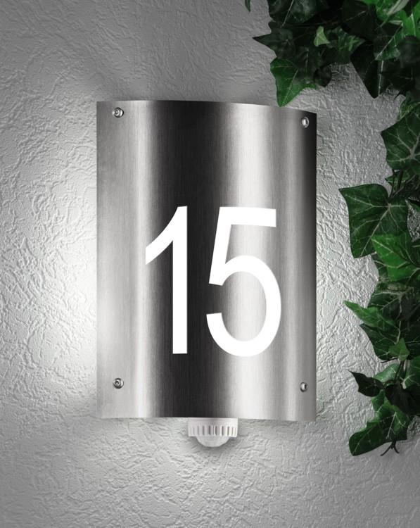 hausnummernleuchte au enleuchte wandlampe mit hausnummer cmd 32 hn aqua andra mit. Black Bedroom Furniture Sets. Home Design Ideas
