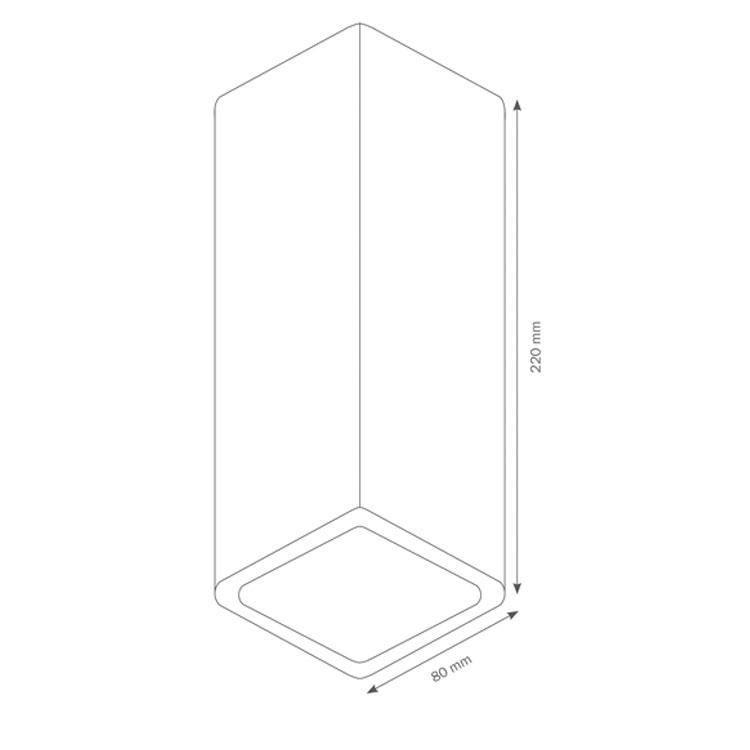 au enleuchte wandleuchte up down lcd typ 022. Black Bedroom Furniture Sets. Home Design Ideas
