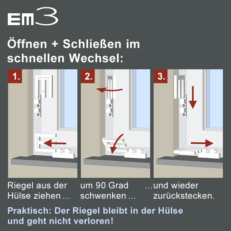em 3 aufhebelschutz em3 von scheffinger geeignet f r fenster und t ren auch zum nachr sten. Black Bedroom Furniture Sets. Home Design Ideas