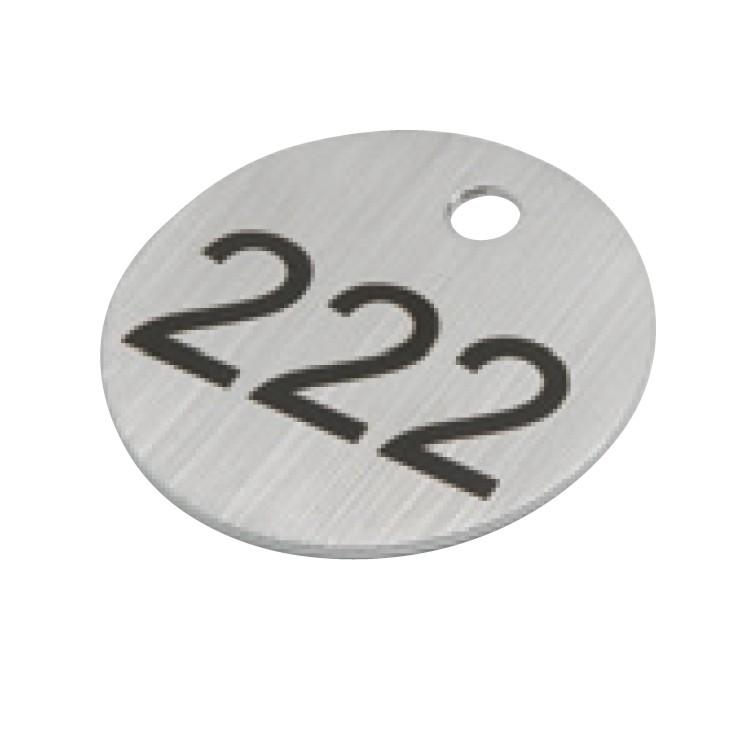 Schlüsselanhänger Zahlenmarken, Edelstahl mit gravierten