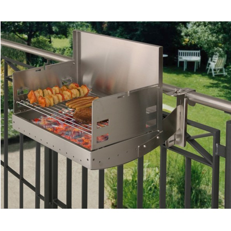 balkongrill grill heibi belvito   edelstahl