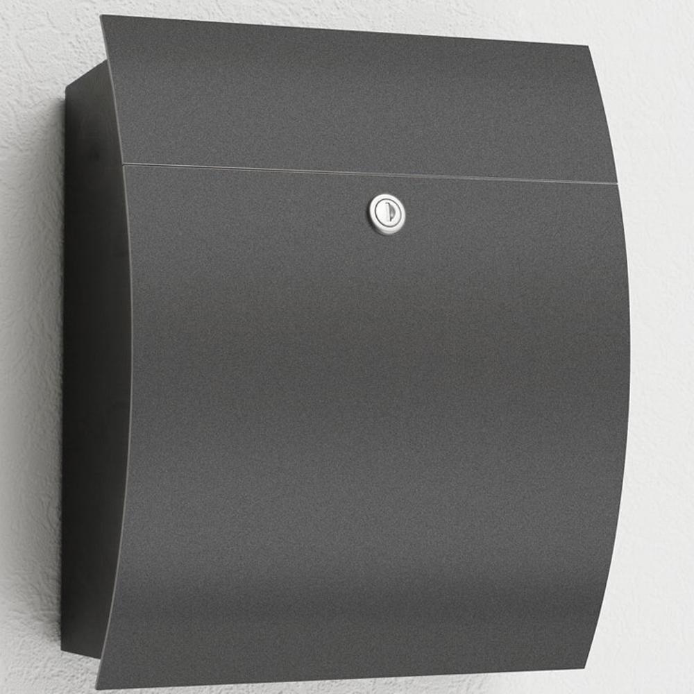 Briefkasten Cmd 77 Anthrazit Mit Fenster Material Edelstahl