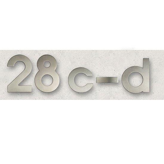 hausnummer aus edelstahl matt geb rstet 145 mm hoch. Black Bedroom Furniture Sets. Home Design Ideas