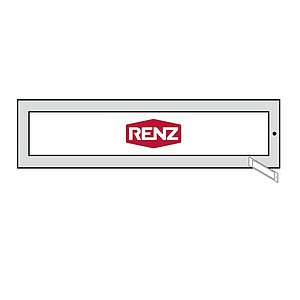 RENZ Namensschild 97-9-85353 65 x 13,60 mm